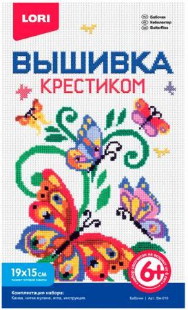 Набор для вышивания Lori Бабочки Вм-010 набор светящихся наклеек aaa 010 бабочки 11 01488 aaa 010