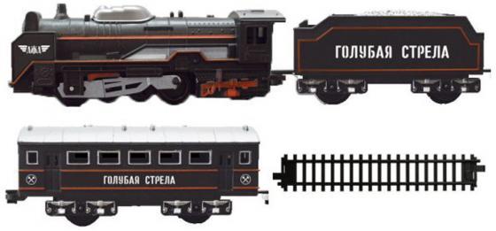 Железная дорога Голубая стрела 200 см, паровоз,тендер,вагон eichhorn вагон с цистерной