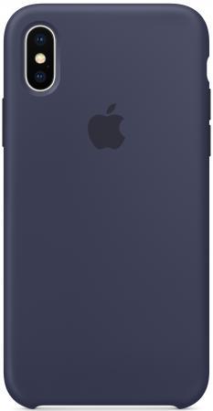 Накладка Apple Silicone Case для iPhone X темно-синий MQT32ZM/A накладка apple silicone case для iphone 7 голубой mmx02zm a