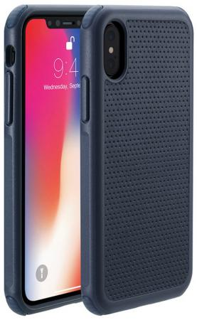"Накладка Just Mobile ""Quattro Air"" для iPhone X синий PC-388BL купить в Москве 2019"