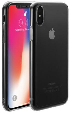 Накладка Just Mobile Tenc для iPhone X прозрачный PC-288CC накладка just mobile tenc для iphone 6 6s plus прозрачный pc 169cc