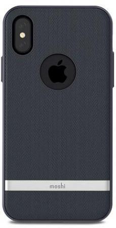 Чехол Moshi Vesta 99MO101511 для iPhone X синий lauren moshi lauren moshi sf 153393