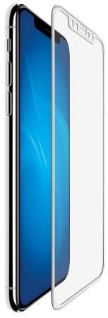 Защитное стекло прозрачная DF 3D iColor-13 для iPhone X 0.33 мм белая рамка защитное стекло luxcase для apple iphone x стекло 3d белая рамка