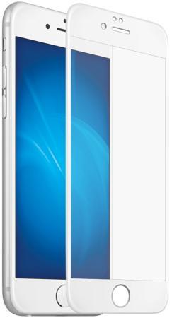 Закаленное стекло с цветной рамкой (fullscreen) для iPhone X DF iColor-14 (white)