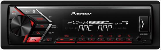 Автомагнитола Pioneer MVH-S300BT-K USB MP3 FM RDS 1DIN 4x50Вт черный автомагнитола kenwood kmm 103gy usb mp3 fm 1din 4х50вт черный