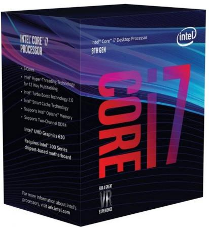 Процессор Intel Core i7-8700 3.2GHz 12Mb Socket 1151 v2 BOX процессор intel core i7 8700