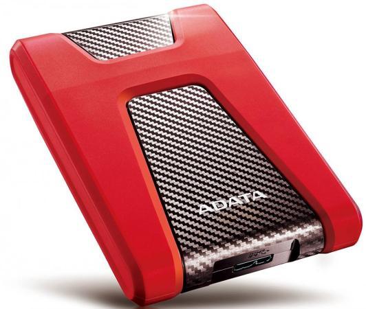 Внешний жесткий диск 2.5 USB3.1 2Tb Adata HD650 AHD650-2TU31-CRD красный внешний жесткий диск 2 5 usb3 0 1tb a data ahd650 1tu3 crd красный