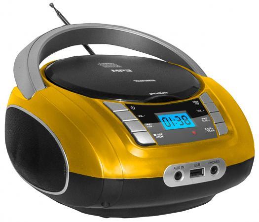 Магнитола Telefunken TF-CSRP3448 желтый магнитола telefunken tf srp3470b красный