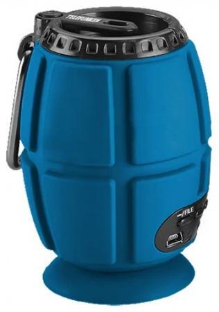 Портативная акустика Telefunken TF-PS1232B синий портативная акустика telefunken tf ps1230b красный коричневый