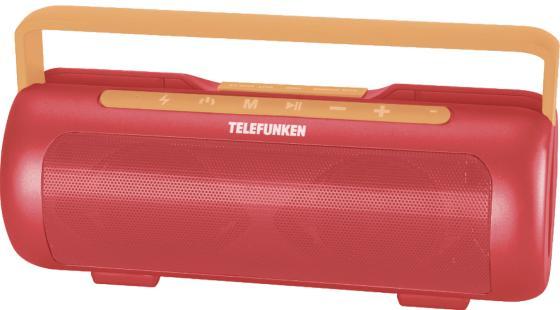 лучшая цена Магнитола Telefunken TF-PS1231B красный/оранжевый