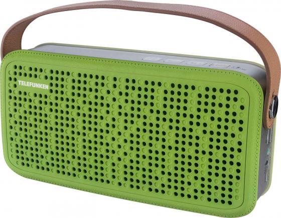 цена на Портативная акустика Telefunken TF-PS1230B зеленый/коричневый