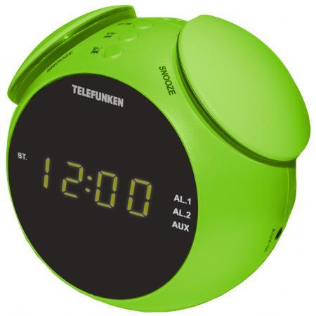 Часы с радиоприёмником Telefunken TF-1570 зелёный цена и фото