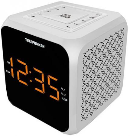 Часы с радиоприёмником Telefunken TF-1571 белый чёрный часы с радиоприёмником max cr 2909 серебристый чёрный