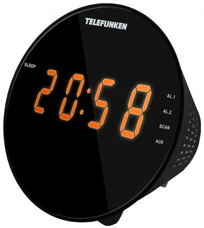 Часы с радиоприёмником Telefunken TF-1572 чёрный радио часы telefunken tf 1567u black white