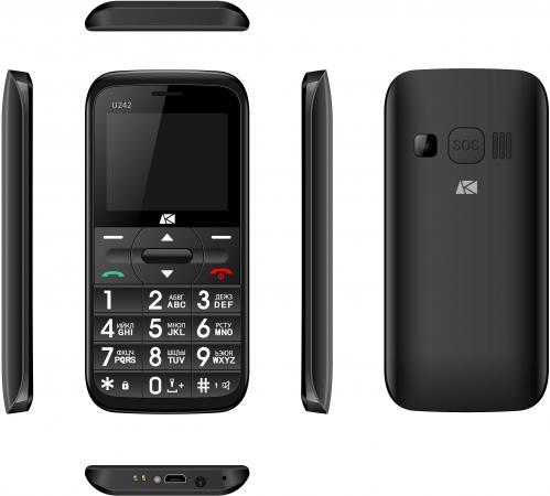 Мобильный телефон ARK Benefit U242 черный 2.2 32 Мб мобильный телефон ark benefit v1 серый 2 4 64 мб
