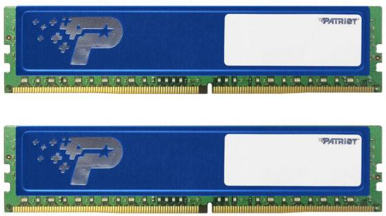 Оперативная память 8Gb (2x4Gb) PC4-17000 2133MHz DDR4 DIMM CL15 Patriot PSD48G2133KH оперативная память 8gb pc4 17000 2133mhz ddr4 dimm dell 370 ackw