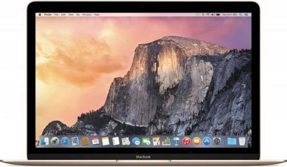 Ноутбук Apple MacBook 12 2304x1440 Intel Core M3 256 Gb 8Gb  HD Graphics 615 золотистый macOS MNYK2RU/