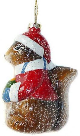 Елочные украшения Новогодняя сказка Белочка 10.5 см 1 шт разноцветный пластик елочные украшения sia елочная игрушка