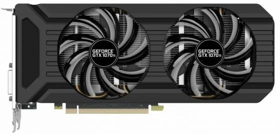 Видеокарта Palit GeForce GTX 1070 Ti PA-GTX1070Ti Dual 8G PCI-E 8192Mb 256 Bit Retail видеокарта palit geforce® gtx 1080 ti pa gtx1080ti gamerock 11g 11гб gddr5x retail