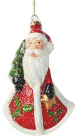 Елочные украшения Новогодняя сказка Дед Мороз 13 см 1 шт разноцветный пластик игрушка интеркативная дед мороз цвет красный 46 см