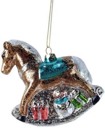 Елочные украшения Новогодняя сказка Лошадка 11 см 1 шт коричневый пластик 972877 цена и фото