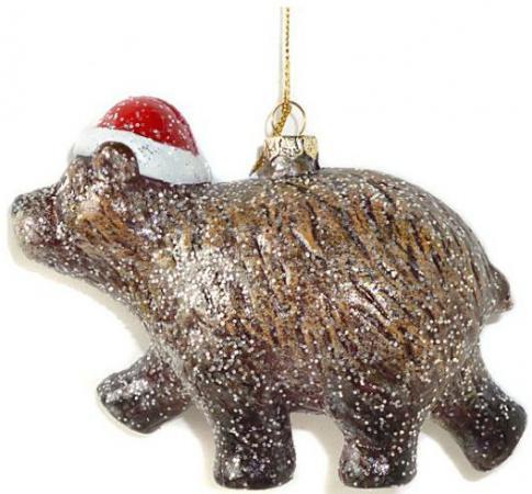 Елочные украшения Новогодняя сказка Мишка косолапый 13.5 см 1 шт коричневый пластик 972505