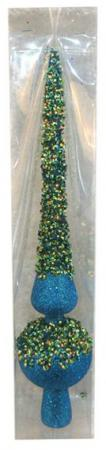 Елочные украшения Новогодняя сказка На макушку 29 см 1 шт голубой пластик