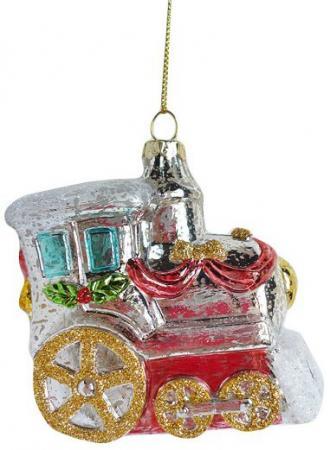 Елочные украшения Новогодняя сказка Паровозик 9 см 1 шт пластик 972884 елочные украшения sia елочная игрушка