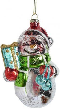 Елочные украшения Новогодняя сказка Снеговик 12 см 1 шт пластик 972875 феникс презент новогодняя фигурка снеговика снеговик с елочкой