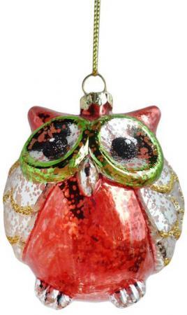 Елочные украшения Новогодняя сказка Сова 7.5 см 1 шт разноцветный пластик елочные украшения sia елочная игрушка