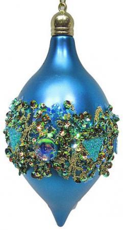 Елочные украшения Новогодняя сказка Капля в кристаллах 7*14 см 2 шт голубой пластик 972921 десерты капля радуги капля радуги медаль 45 г