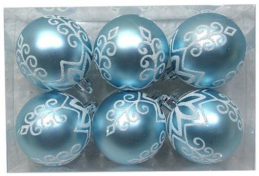 Набор шаров Новогодняя сказка 972912 6 см 6 шт голубой пластик selters вода минеральная слабогазированная 1 л