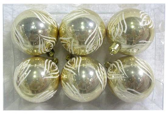 Набор шаров Новогодняя сказка 972892 6 см 6 шт золотой пластик набор шаров новогодняя сказка 971970 синий 6 см 6 шт стелко