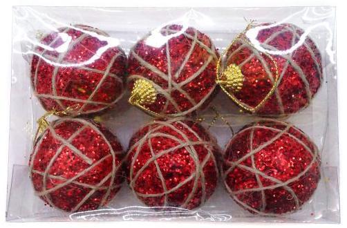 Набор шаров Новогодняя сказка 972710 6 см 6 шт красный пенопласт набор шаров новогодняя сказка 971970 синий 6 см 6 шт стелко