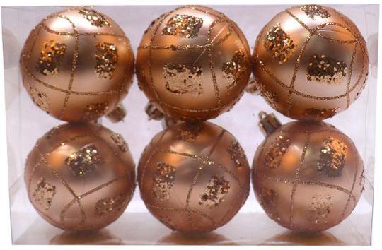 Набор шаров Новогодняя сказка 972936 6 см 6 шт золотой пластик набор шаров новогодняя сказка 971970 синий 6 см 6 шт стелко