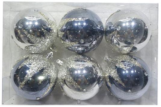 Набор шаров Новогодняя сказка 972925 6 см 6 шт серый пластик метелица набор новогодних шаров 6 шт