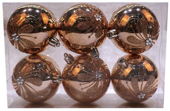 Набор шаров Новогодняя сказка 972933 7 см 6 шт розовое шампанское пластик метелица набор новогодних шаров 6 шт