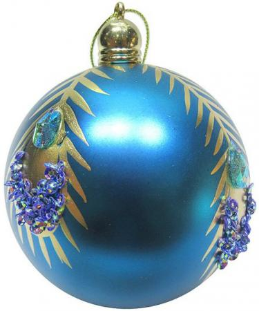 Набор шаров Новогодняя сказка 972917 8 см 3 шт голубой пластик