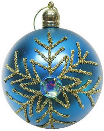 Набор шаров Новогодняя сказка 972916 8 см 3 шт голубой пластик
