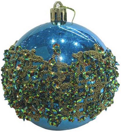Набор шаров Новогодняя сказка 972920 8 см 3 шт голубой пластик украшение kaemingk набор шаров новогодняя коллекция 34шт silver 023151