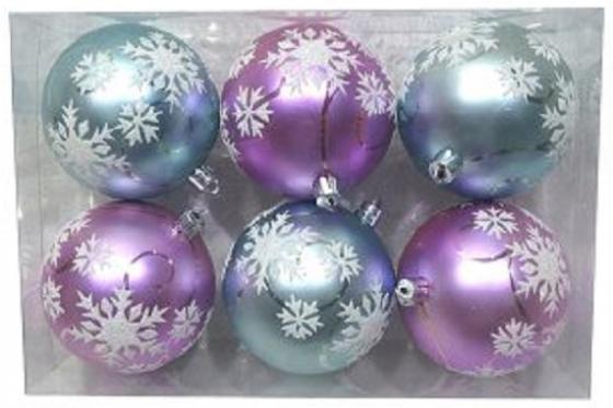 Набор шаров Новогодняя сказка 972913 8 см 6 шт разноцветный пластик набор шаров новогодняя сказка 972930 8 см 6 шт серебро пластик