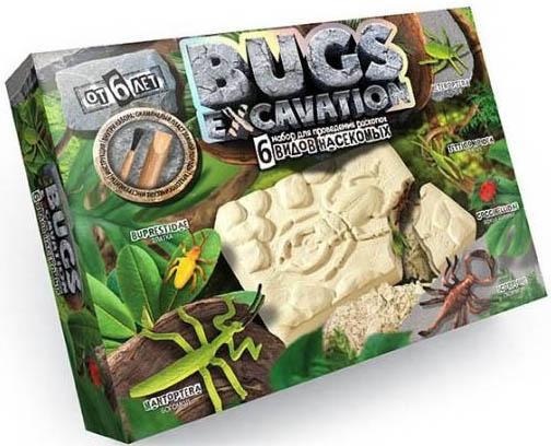Набор для раскопок ДАНКО-ТОЙС Bugs Excavation. Насекомые (богомол, скорпион, жуки) BEX-01-04 322809 набор для раскопок данко тойс bugs excavation насекомые жуки и стрекоза