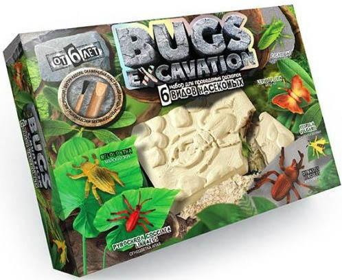 Набор для раскопок ДАНКО-ТОЙС Bugs Excavation. Насекомые (жуки и пауки) 6134 geoworld для проведения раскопок dr steve hunters ти рекс и трицератопс