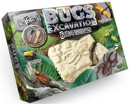 Набор для раскопок ДАНКО-ТОЙС Bugs Excavation. Насекомые (жуки и стрекоза) BEX-01-02 набор для раскопок данко тойс bugs excavation насекомые жуки и стрекоза