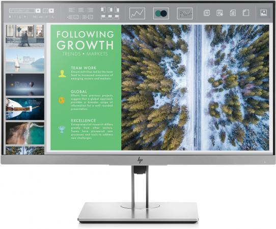 Монитор HP EliteDisplay E243 серебристый IPS 1920x1080 250 cd/m^2 5 ms HDMI DisplayPort VGA USB 1FH47AA монитор hp 21 5 elitedisplay e223 1fh45aa