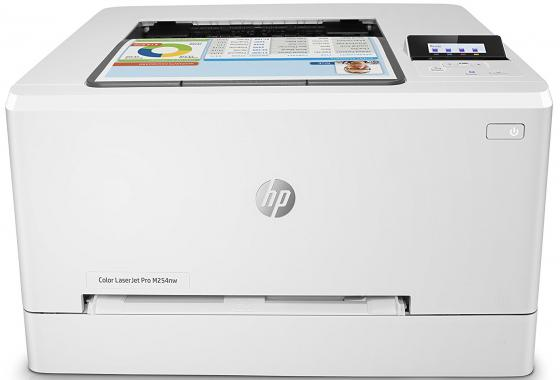 Принтер HP Color LaserJet Pro M254nw T6B59A цветной A4 21ppm 600x600dpi 128Mb Ethernet USB Wi-Fi new paper delivery tray assembly output paper tray rm1 6903 000 for hp laserjet hp 1102 1106 p1102 p1102w p1102s printer