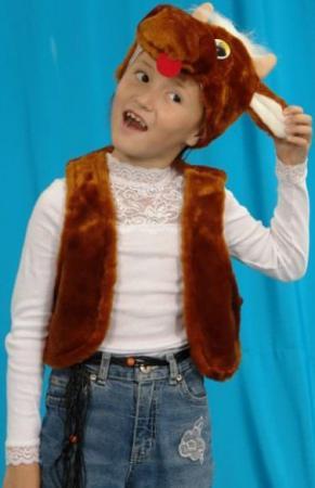 Карнавальный костюм Костюмы Бычок (головной убор, жилет) от 3 лет К-036 карнавальные костюмы magic home новогодний костюм