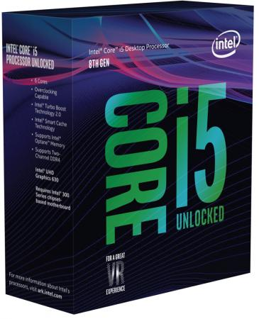 Процессор Intel Core i5-8600K 3.6GHz 9Mb Socket 1151 v2 BOX без кулера