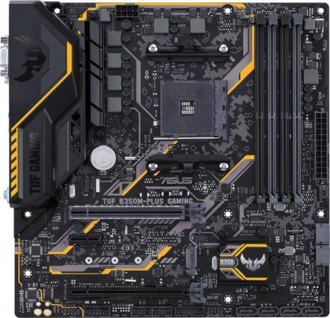 Материнская плата ASUS TUF B350M-PLUS GAMING Socket AM4 AMD B350 4xDDR4 2xPCI-E 16x 1xPCI-E 1x 6xSATAIII mATX Retail 90MB0UU0-M0EAY0 asus a88xm plus matx