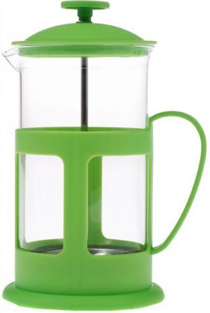 Френч-пресс Teco TC-P1060-G зелёный 0.6 л стекло teco tс p1060 y